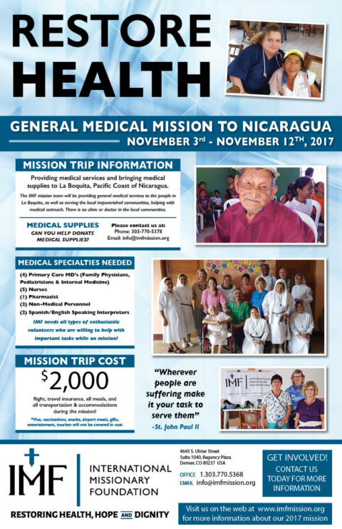 GENERAL MEDICAL MISSION TO NICARAGUA #RestoreHealth